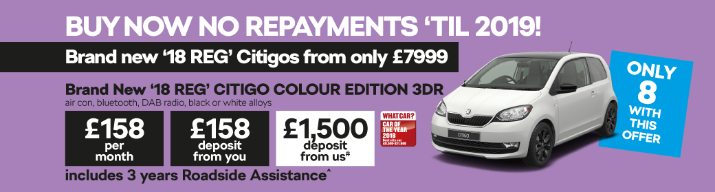 Brand New '18 REG' CITIGO COLOUR EDITION 3DR