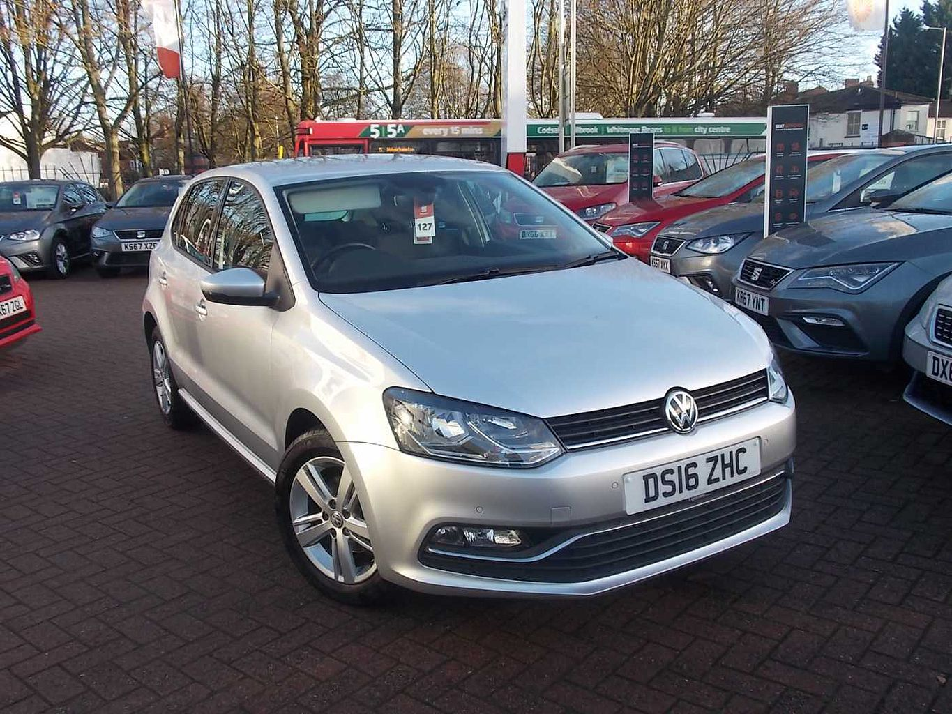 2016 Silver Volkswagen Polo MK5 Hatchback 5-Dr 1.2 TSI Match 90PS, Petrol, Manual