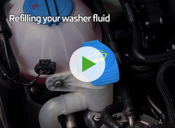 Refilling your washer fluid