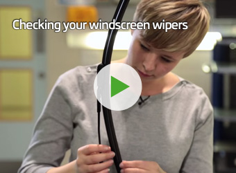 Checking your windscreen wipers